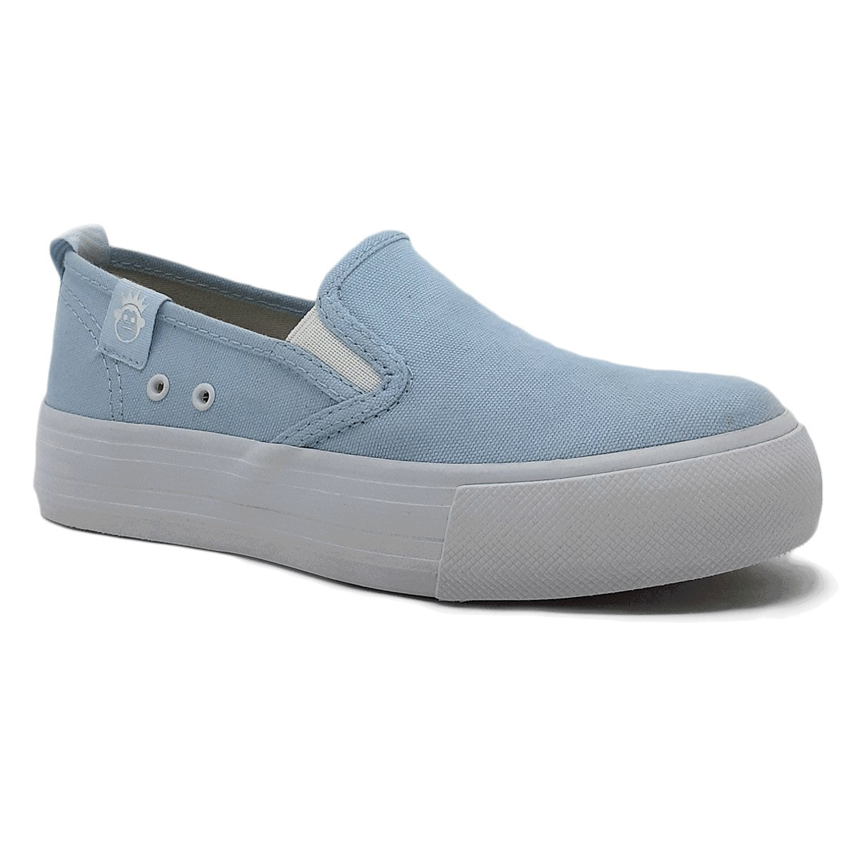 Tênis Slip On Kings Lona 3010 - Azul Claro