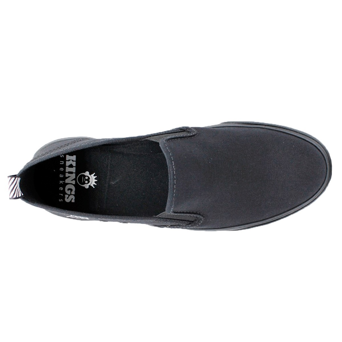 Tênis Slip On Kings Lona Esportiva 3007 - Preto