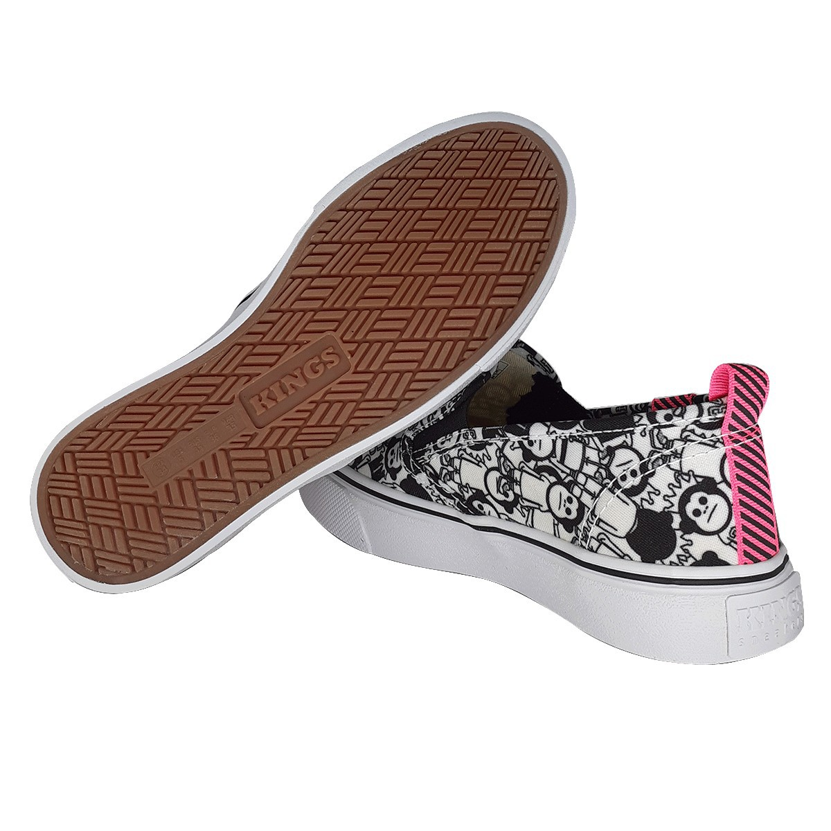 Tênis Slip On Kings Oxford Estampa Macaco 3011