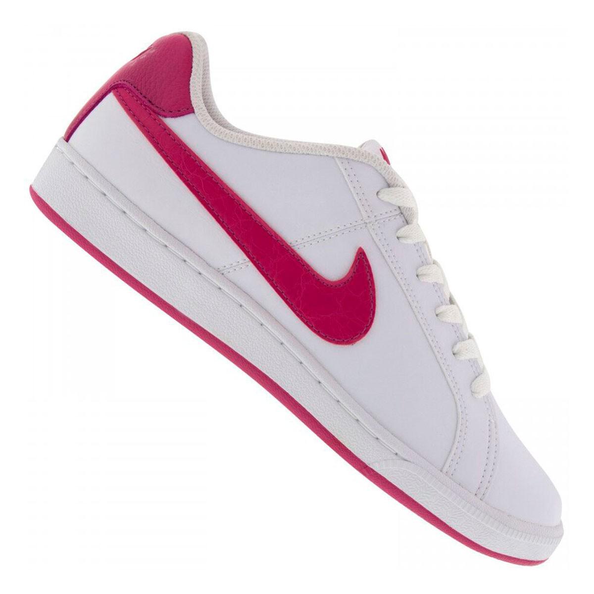 Tênis WMNS Nike Court Royale Feminino Branco Rosa