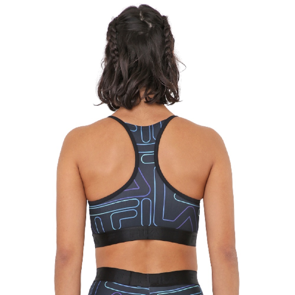 Top Fila Train Elastic II Feminino Preto