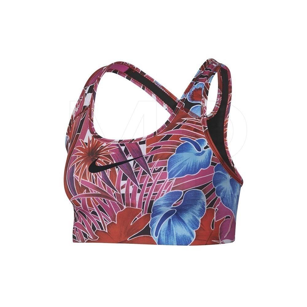 Top Nike Hyperflora Swoosh Feminino Rosa Azul