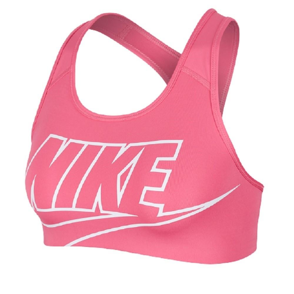 Top Nike Swoosh Futura Feminino Rosa