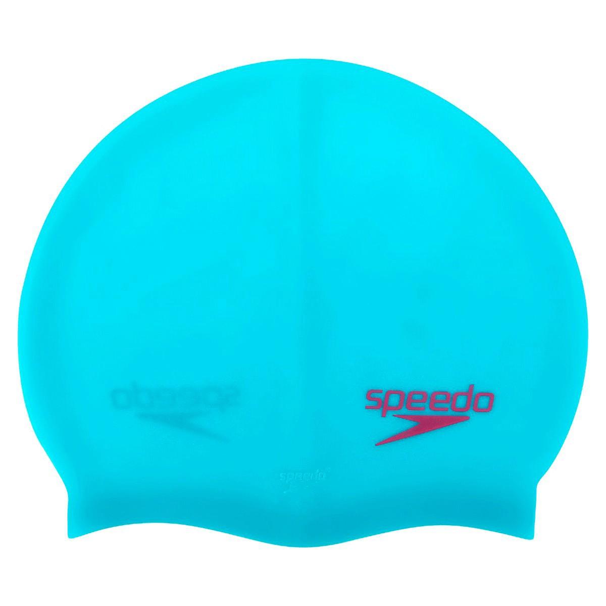 Touca Natação Speedo Flat Swim Azul Neon