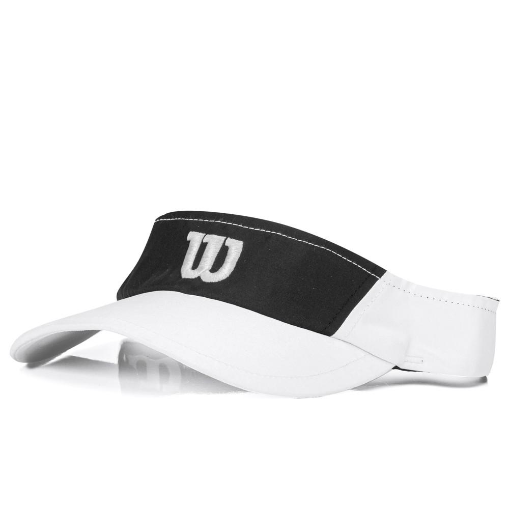 Viseira Wilson Ultra Logo W Branco e Preto