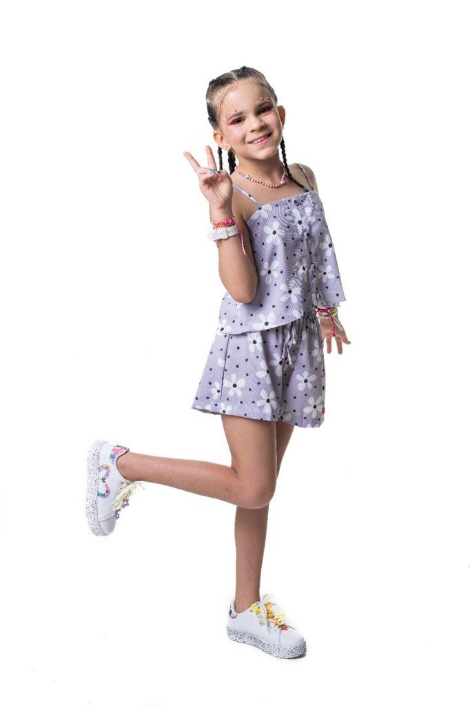 Blusa Raissa flor indie kid