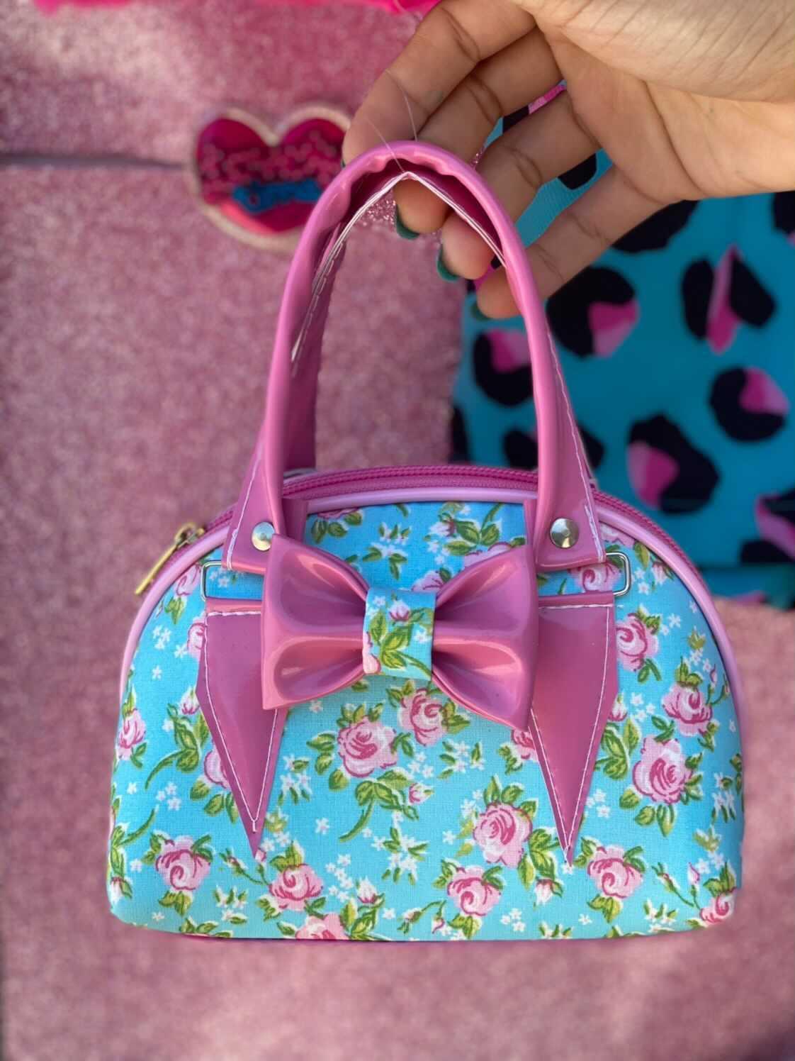 Bolsa flores boneca