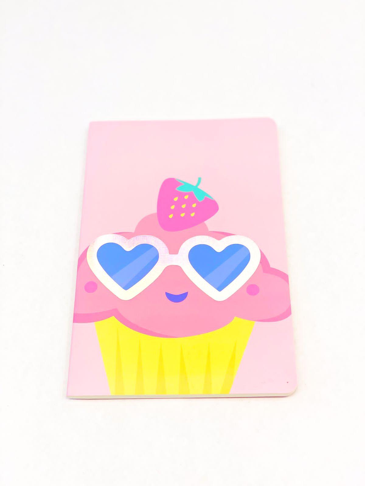 Caderneta divertida cupcake