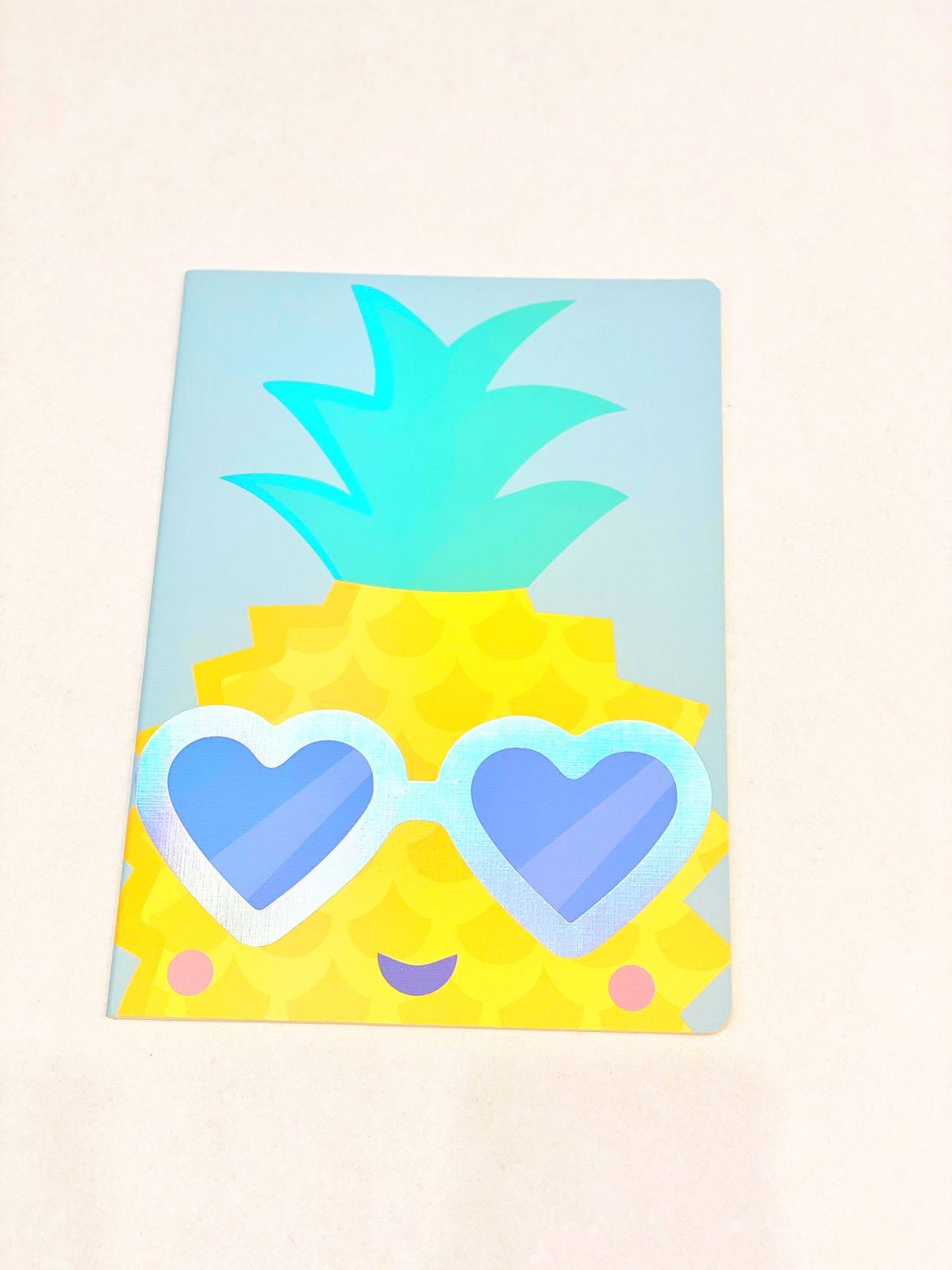Caderno divertido abacaxi