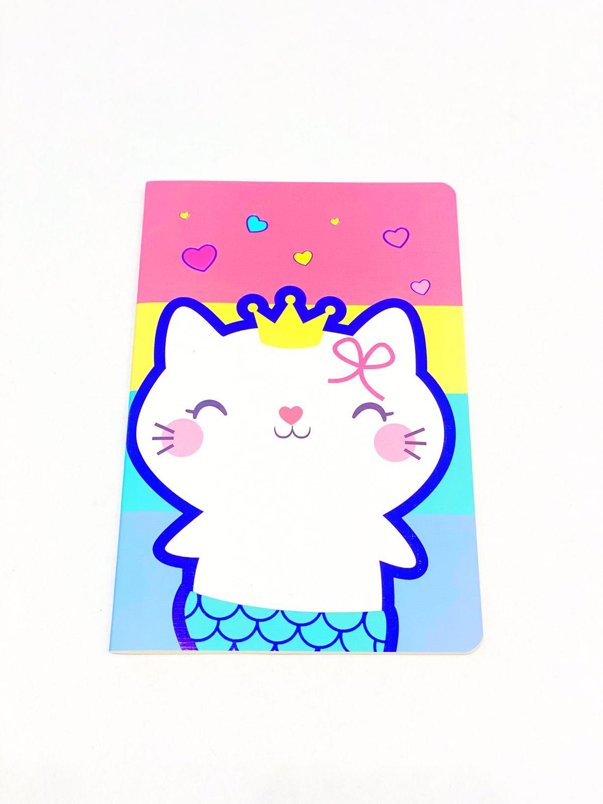 Caderno divertido gatinha