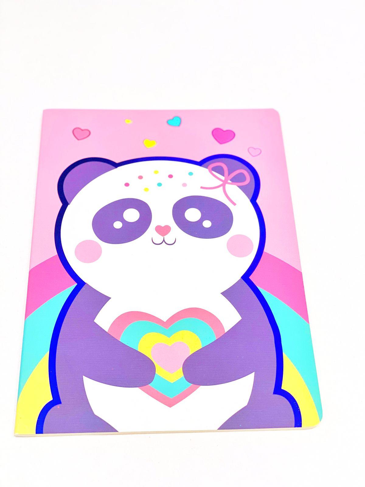Caderno divertido panda