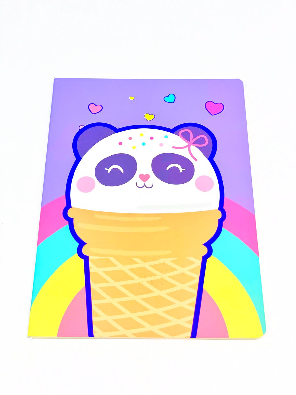 Caderno divertido sorvete panda