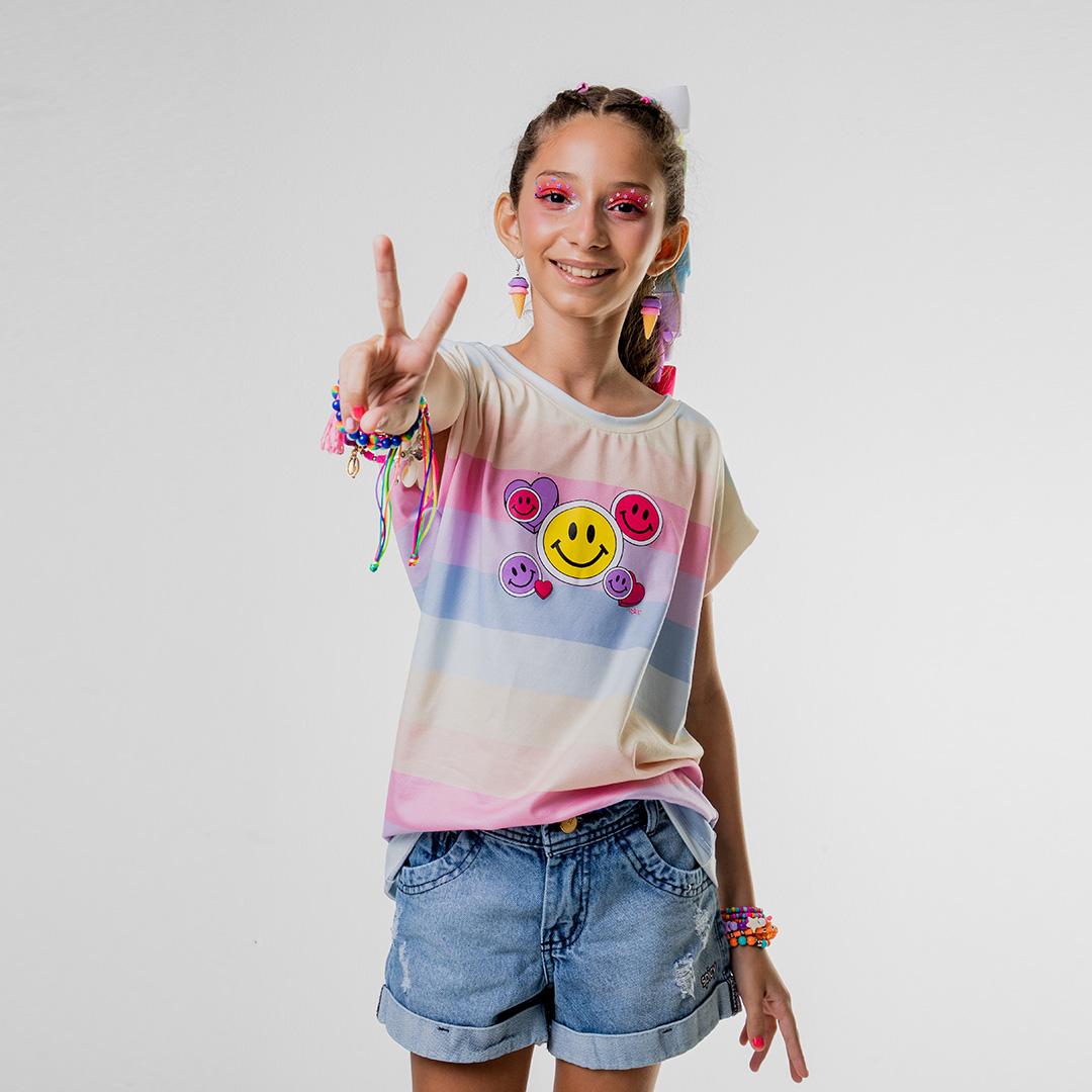 Camiseta Arco-Íris Smile