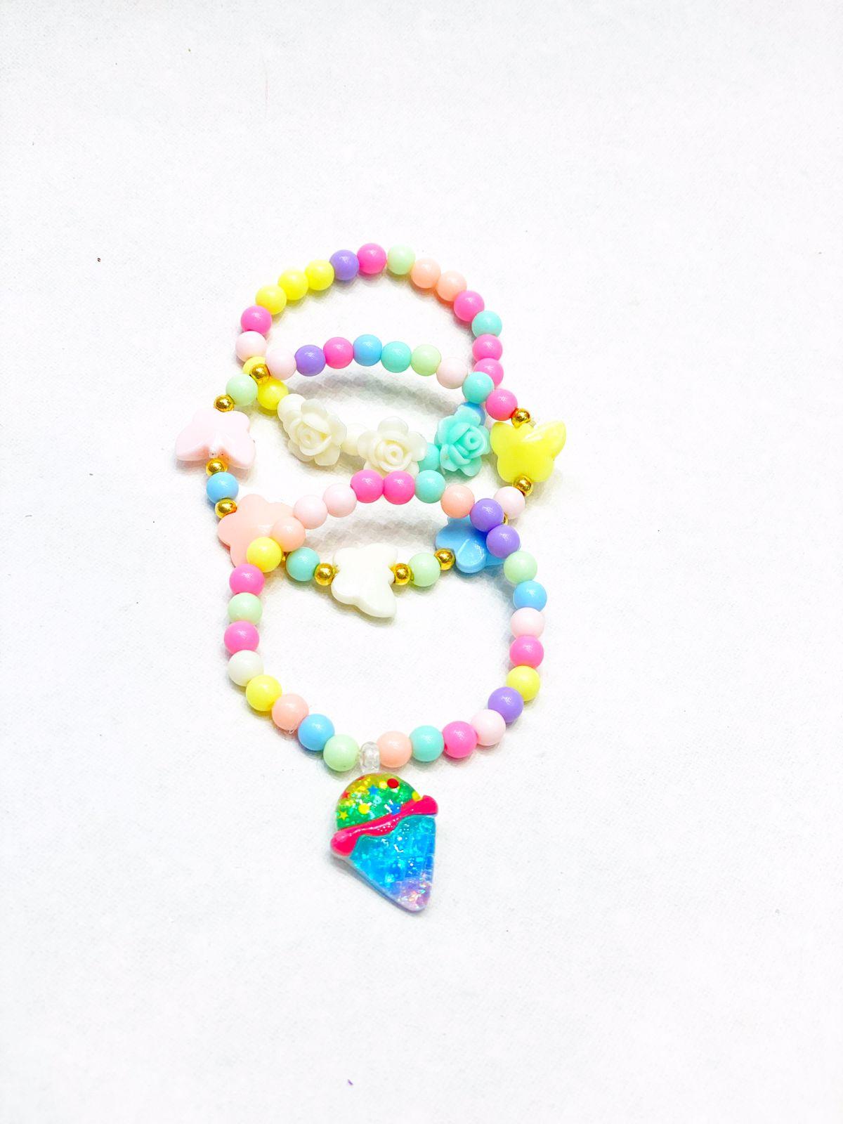 Pulseiras colorful ice cream