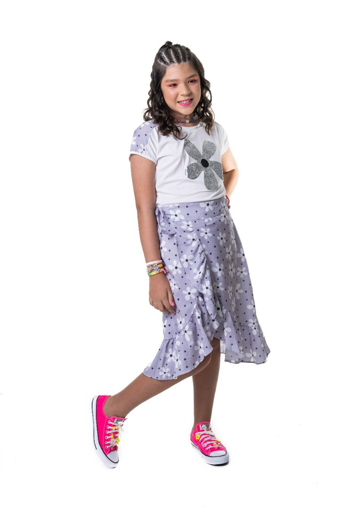 Saia Raquel flor indie kid