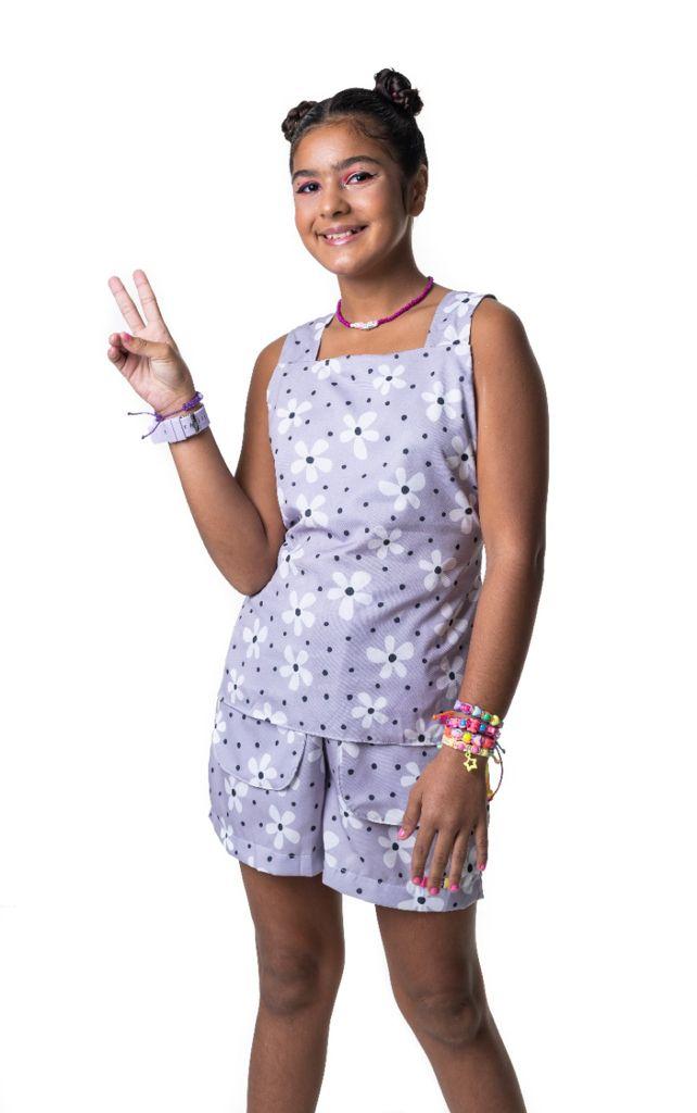 Short Raissa flor indie kid