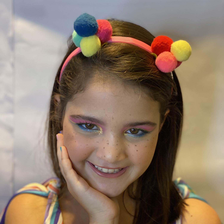 Tiara de Pompons Double Kid