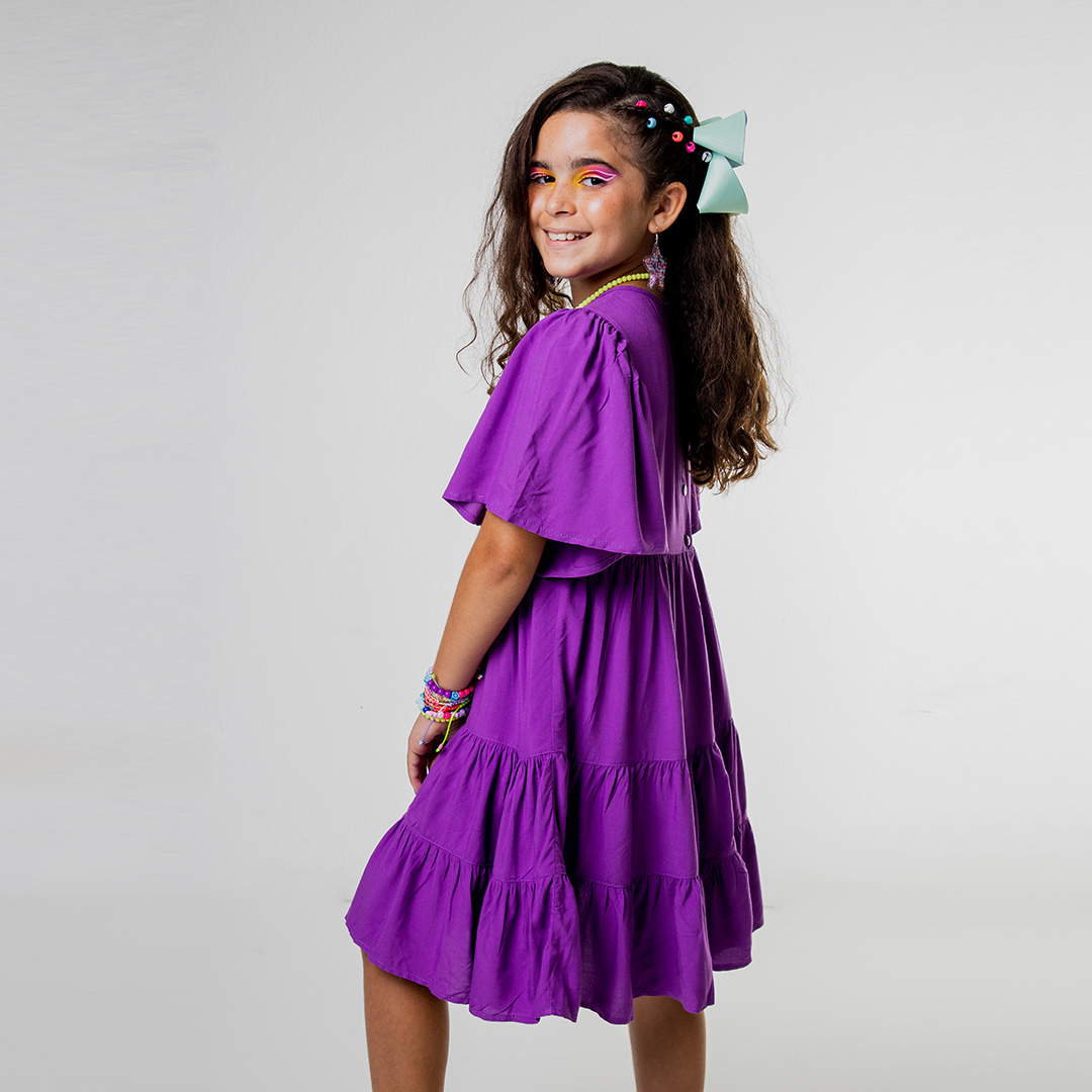 Vestido Color Flare