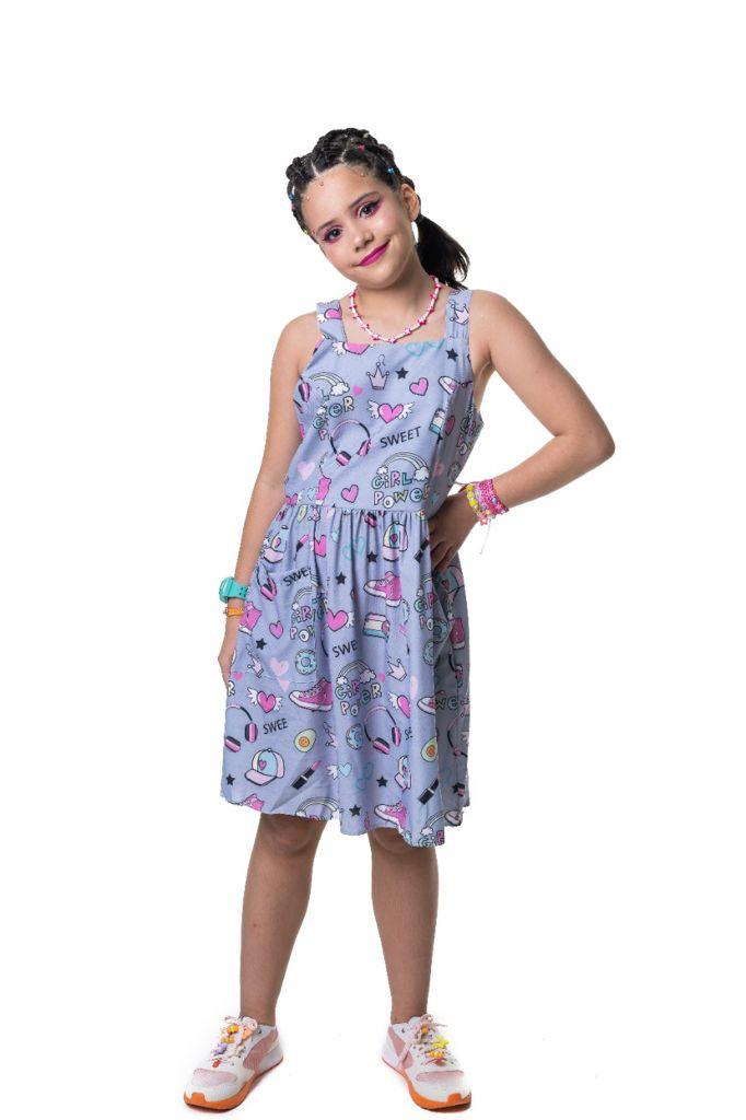 Vestido Laurinha girl power