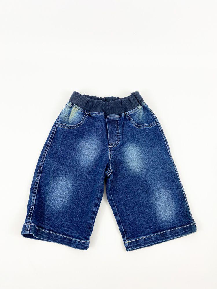 Bermuda jeans escura detalhe lavagem Public Side tam 8