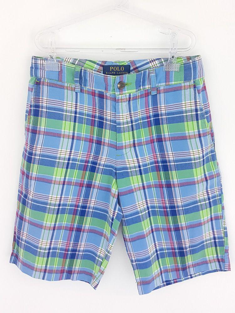 Bermuda xadrez azul/verde/vermelha/branca Polo Ralph Lauren tam 12