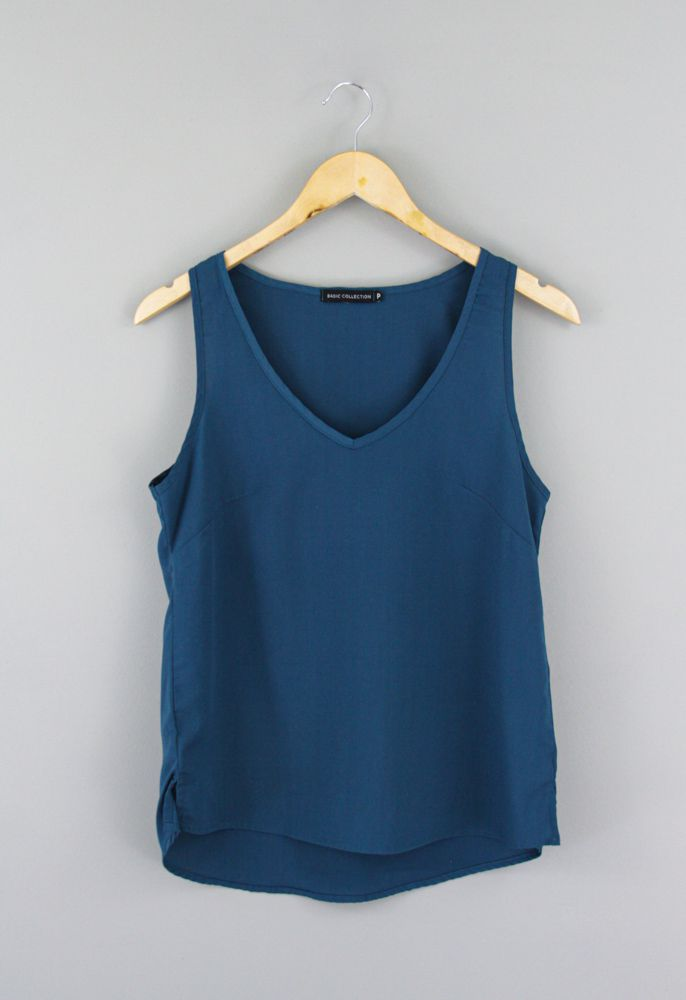 Blusa azul Basic Collection tam P