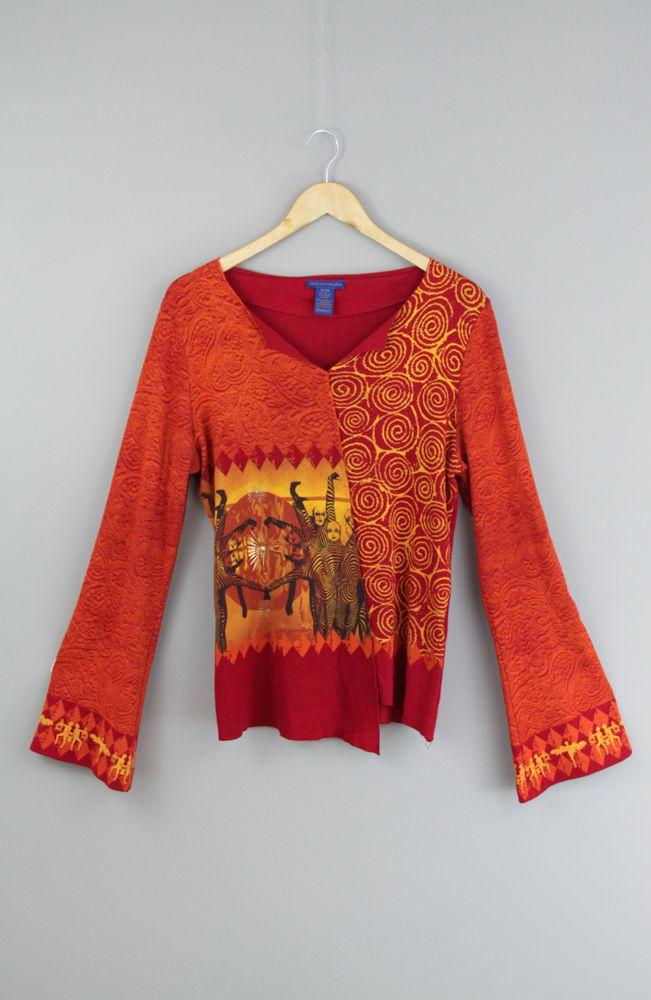 Blusa laranja e vermelha Cirque du soleil tam GG