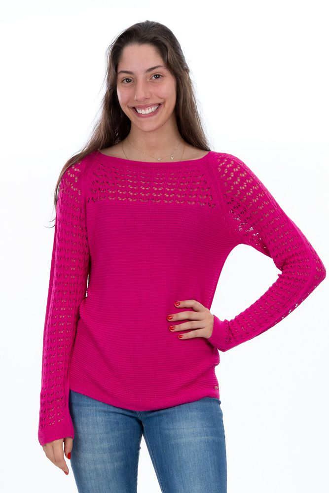 Blusa tricot pink furinhos Ambicione tam M