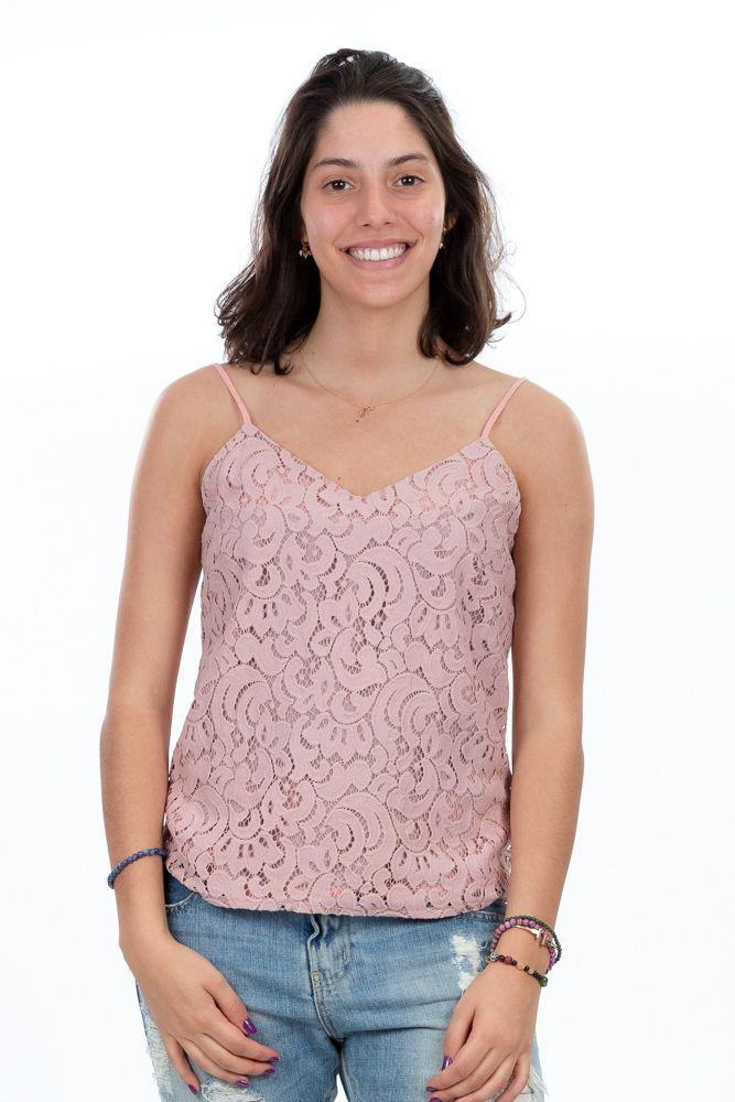 Blusa rosa renda Cheroy tam P