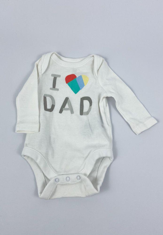 Body branco i love dad Baby Gap tam RN