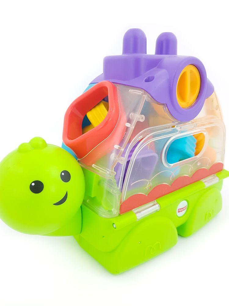 Tartaruga verde/roxa/amarela com portas Fisher Price