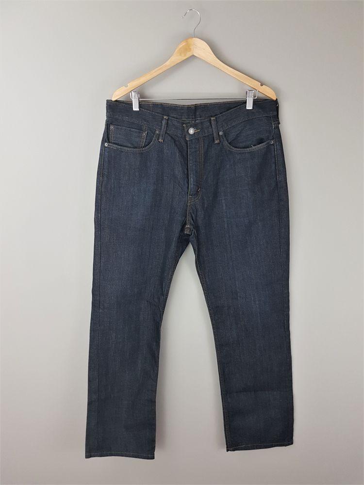 Calça jeans azul escuro pesponto amarelo Levi's tam 42