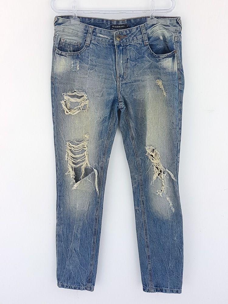 Calça jeans esverdeada Le Lis Blanc tam 38