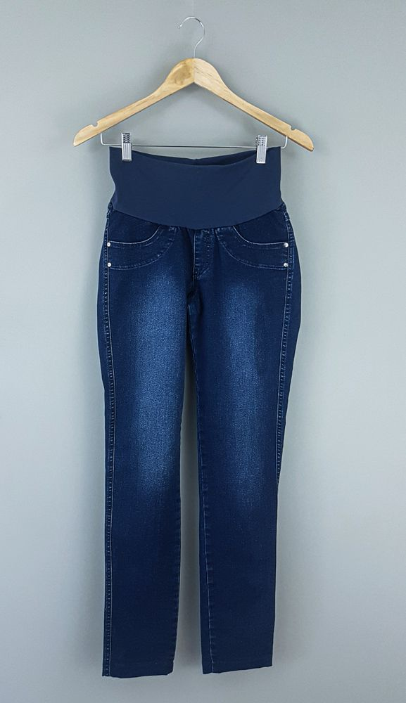 Calça jeans marinho A Gestante tam P