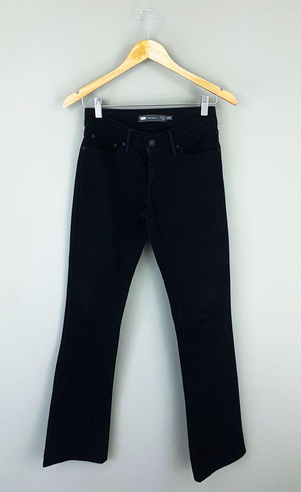 Calça jeans preta demi curve Levi's tam 36