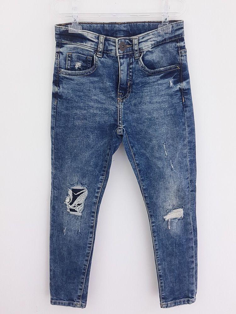 Calça jeans rajada Zara tam 8