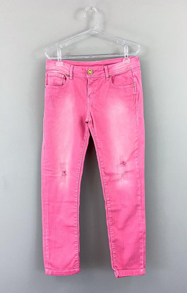 Calça jeans rosa Canal tam 42