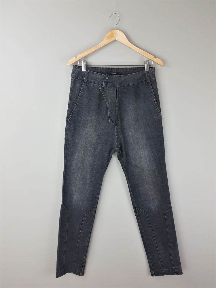 Calça jeans sarouel preta Osklen tam 38