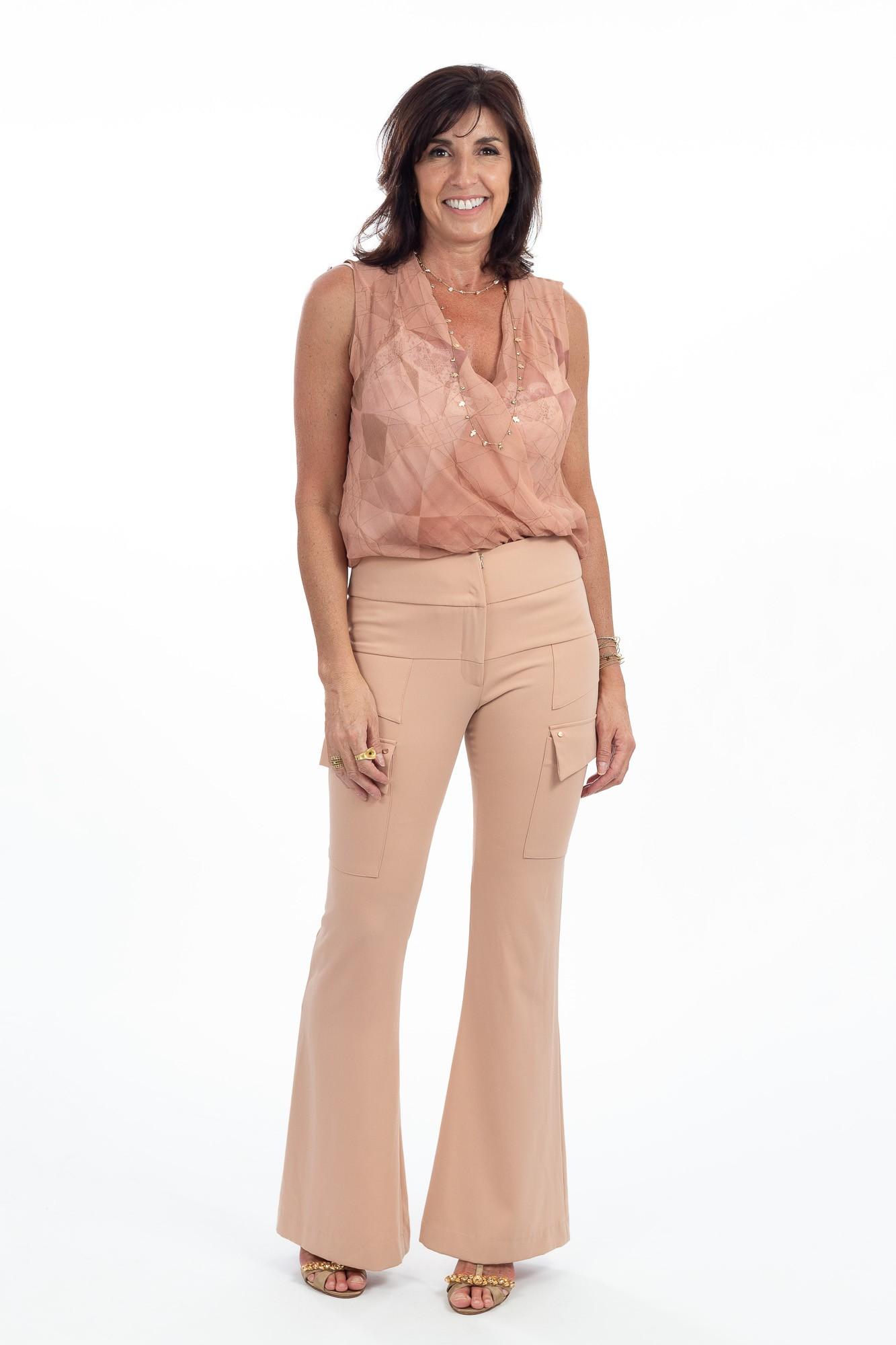 Calça pantalona rosa seco Animale tam 36