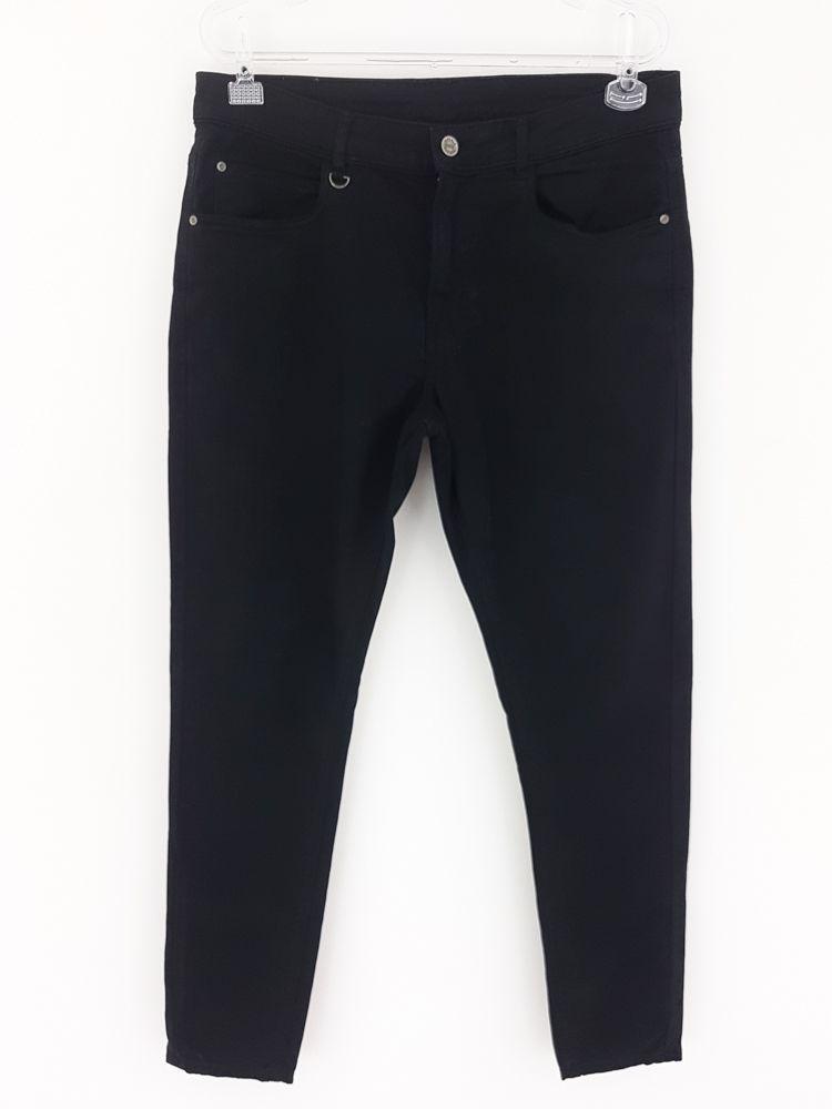 Calça sarja preta skinny Zara tam 40