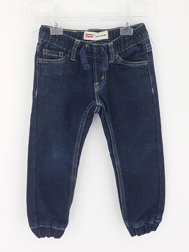 Calça tipo jeans escuro Levis tam 2