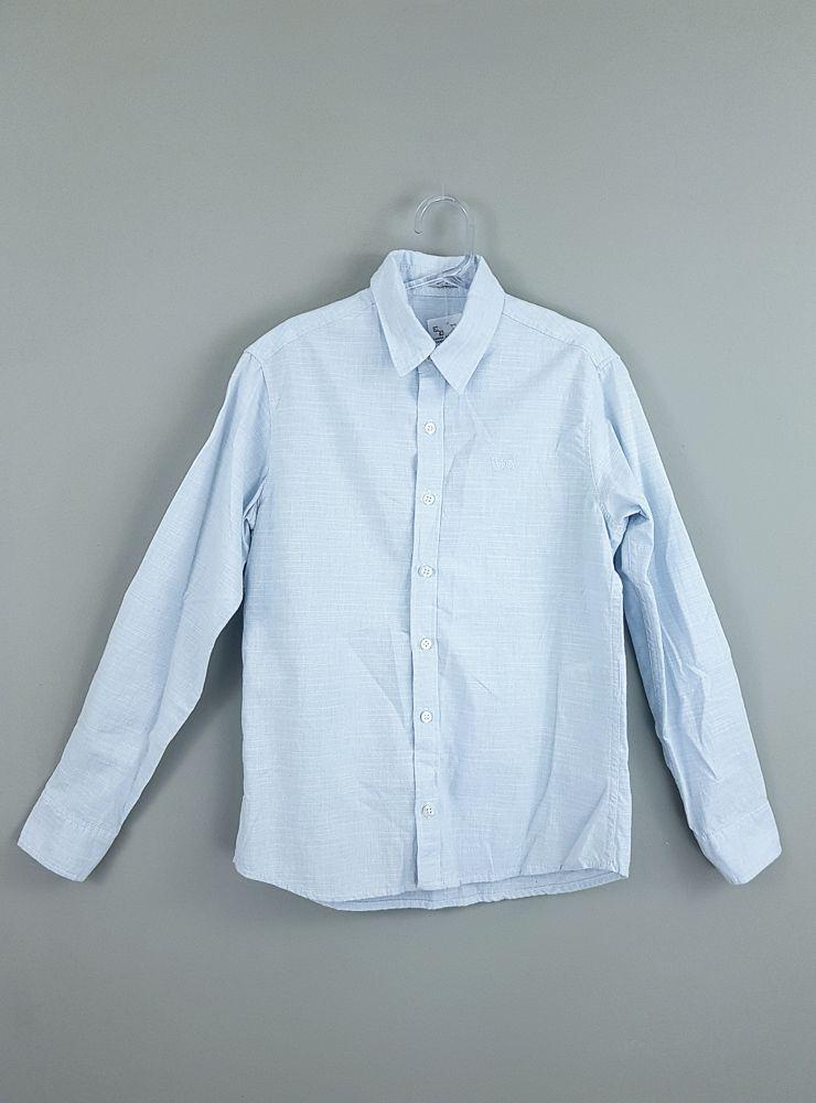 Camisa azul botões brancos Tyrol Kids tam 8