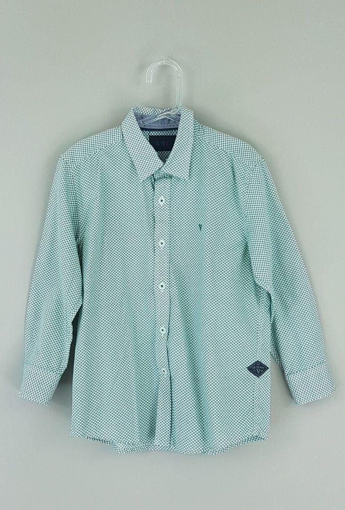 Camisa branca/verde poá Vrk tam 4