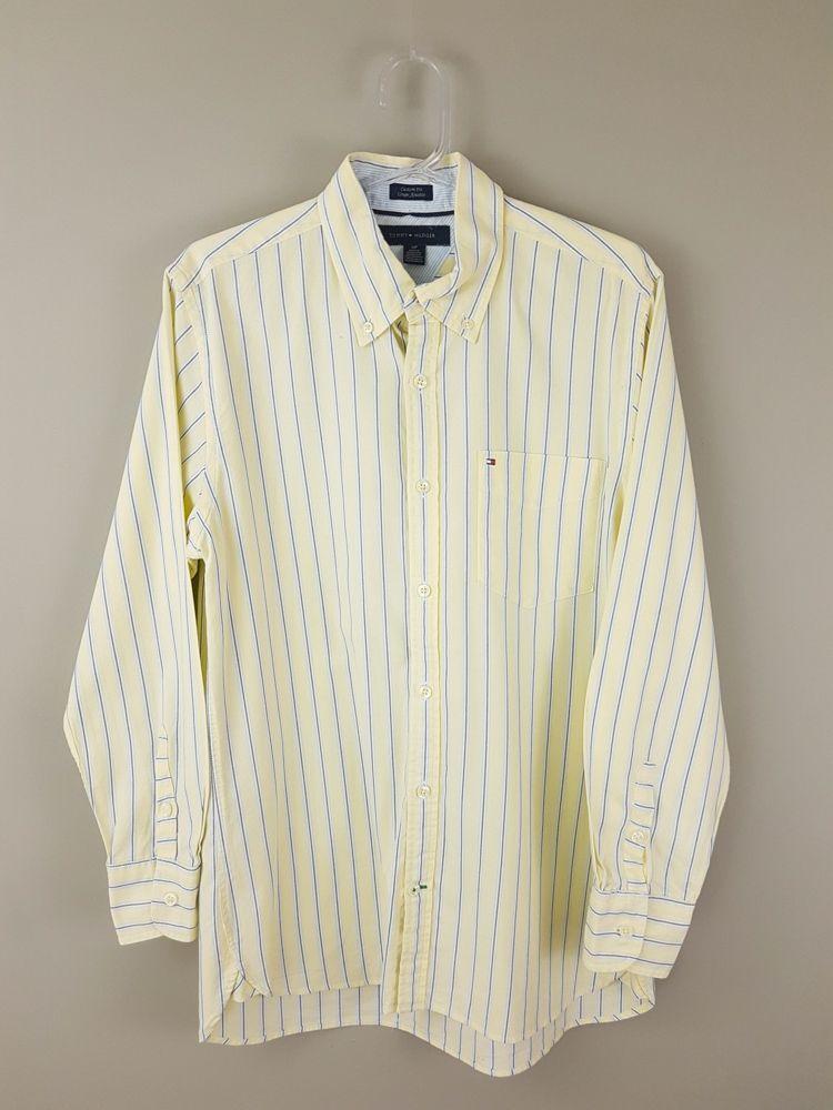 Camisa amarela listrada Tommy Hilfiger  tam PP
