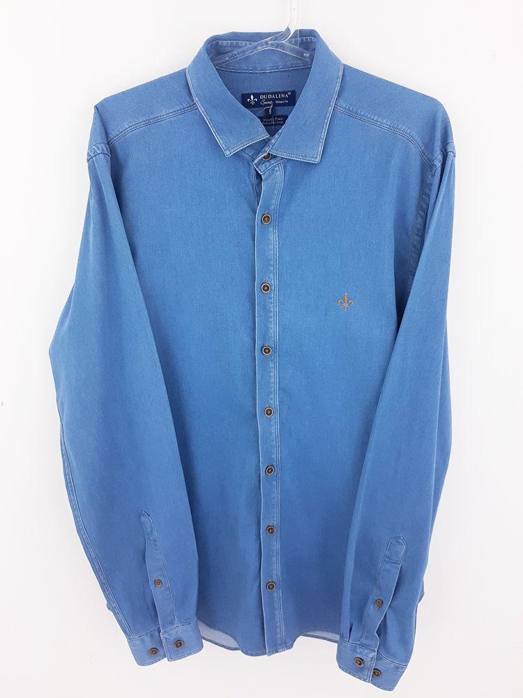 Camisa jeans azul claro Dudalina tam 3