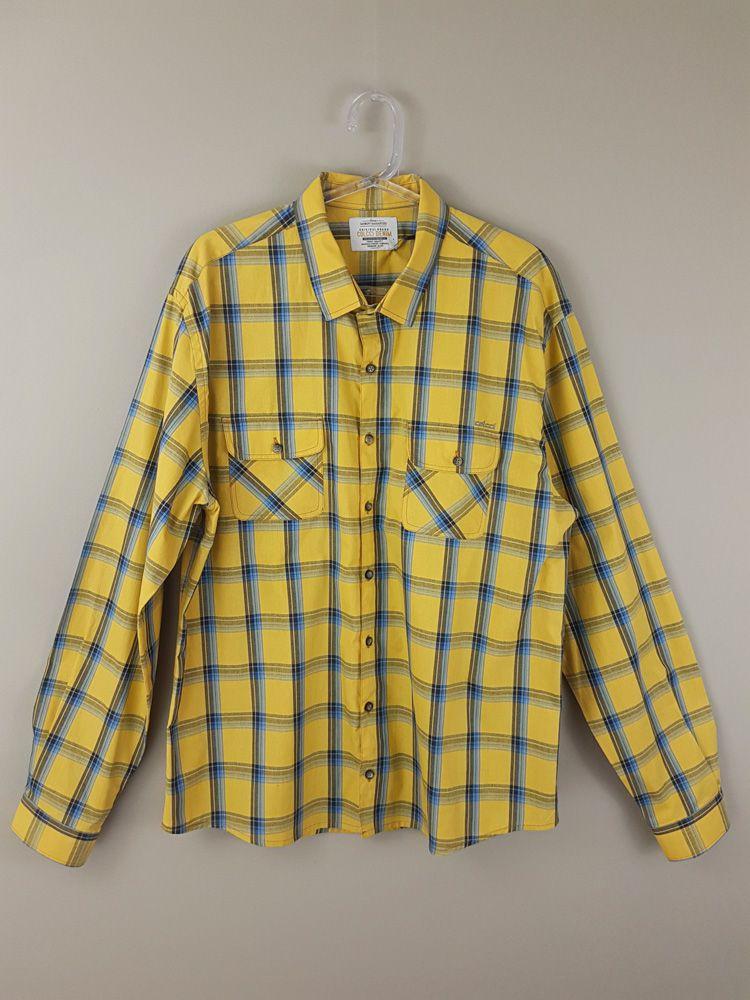 Camisa xadrez amarelo/azul/preto Colcci tam GG