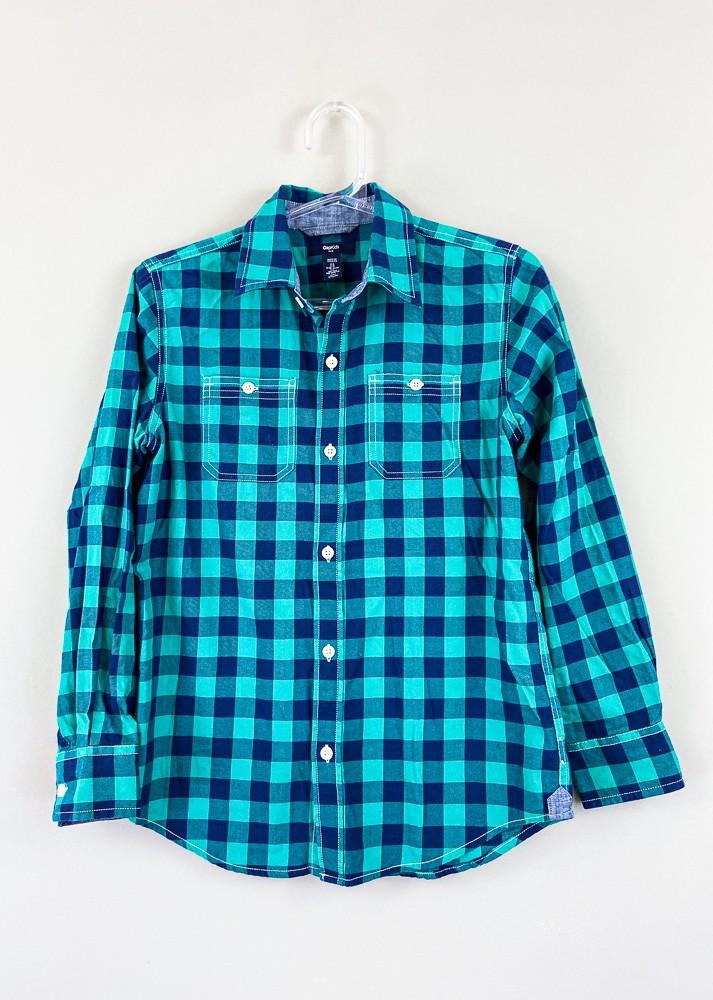 Camisa xadrez verde/marinho Gap Kids tam 10/12