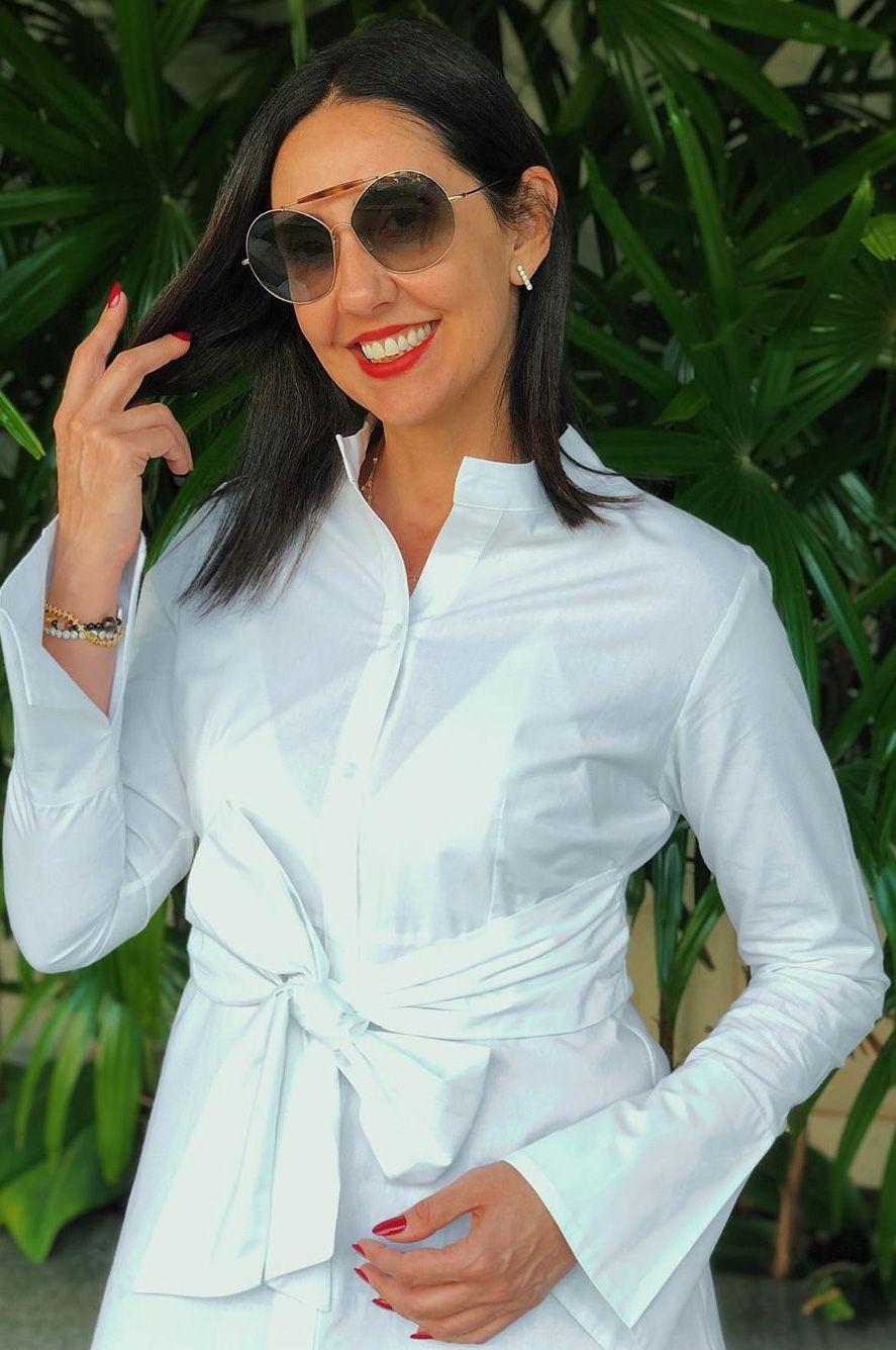 Camisa off white amarração Sibele Barony tam 38