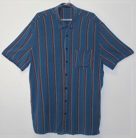 CAMISA/VESTIDO BAW CLOTHING AZUL LISTRADO TAM G