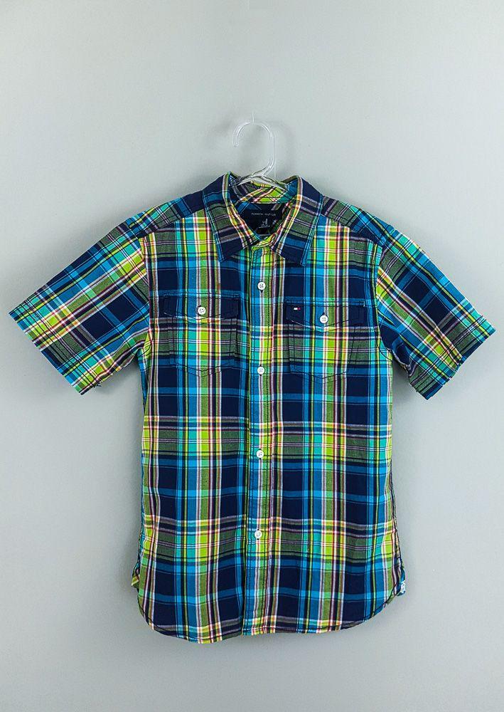 Camisa xadrez verde/azul/vermelha Tommy tam 6/7